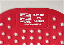 Swisher Urinal Matt: Say No to Drugs