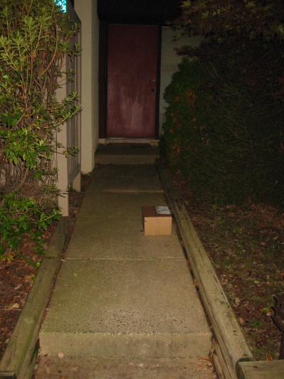 Package on the Walkway