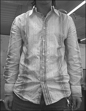 Dress shirt untucked