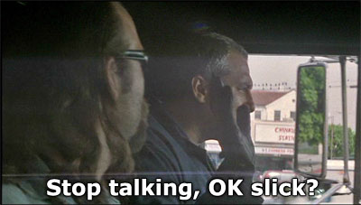 Michael Cherrito saying Stop talking, okay, slick? in Michael Mann's Heat